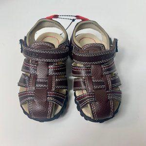 Carter's Toddler Boys Brown Fisherman Sandals Sz 7